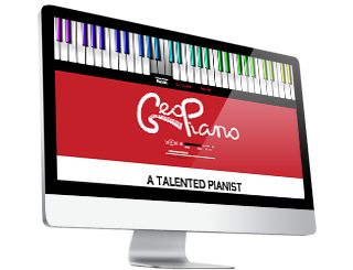 Geo Piano by Glofish Web Design